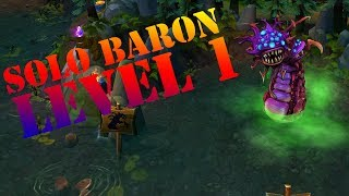 Nasus Level 1 Solo Baron - League of Legends