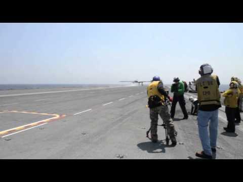 SECNAV observes the X-47B launch