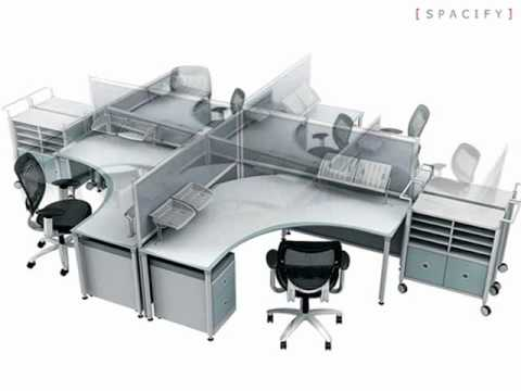 Cool office furniture modern computer workstation for Cool office furniture cheap