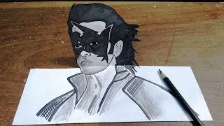 How to draw super hero Krish in 3D - Hrithik Roshan