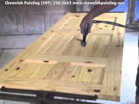 Interior Painters Spokane WA- Door Staining- Chewelah Painting (509) 290-2665