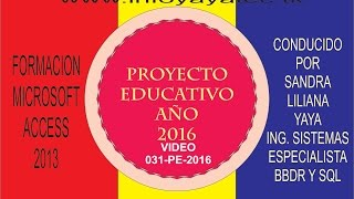Repeat youtube video Video 031 Access 2013   Proyecto Educativo   ServidorCliente