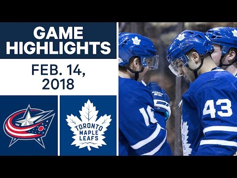 NHL Game Highlights | Blue Jackets vs. Maple Leafs - Feb. 14, 2018