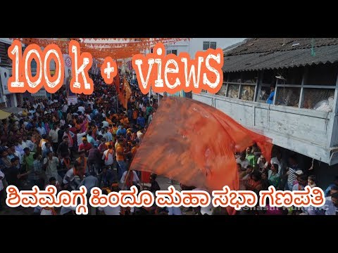 Shivamogga Hindu Mahasabha Ganapathi Aerial view