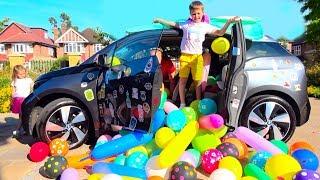 Разыграли маму ЗАСЫПАЛИ машину ШАРИКАМИ или BALLOONS PRANK IN MY MOM's CAR