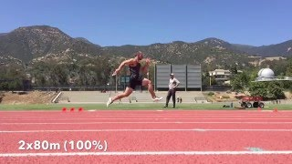 sprint training short speed endurance lifting workout