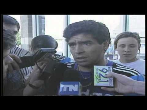 Interview with Diego Maradona on the President of Argentina (1994) HD