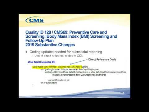 Three Eligible Clinician eCQMs with Substantive Changes for