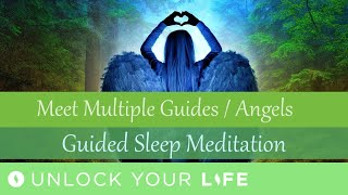 Sleep Meditation Meet Your Legion of Guides / Angels for Messages Related to Work, Love, Abundance