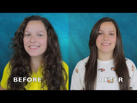 STRAIGHTEN YOUR HAIR PERMANENTLY AT HOME!! With only 1 ingredient - YouTube