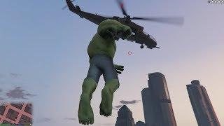 GTA V New HULK mod gameplay
