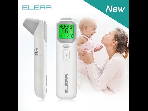 Baby-Thermometer f/ür Fieber Baby-Digitalthermometer f/ür Stirn und Ohr Thermometer f/ür Baby Kinder und Erwachsene