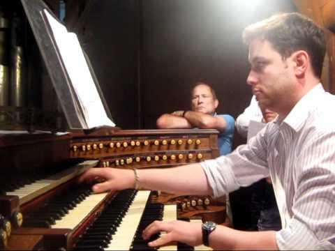 Jonathan Hope: Dupre Evocation (rehearsal for recital at Saint-Sulpice, Paris)