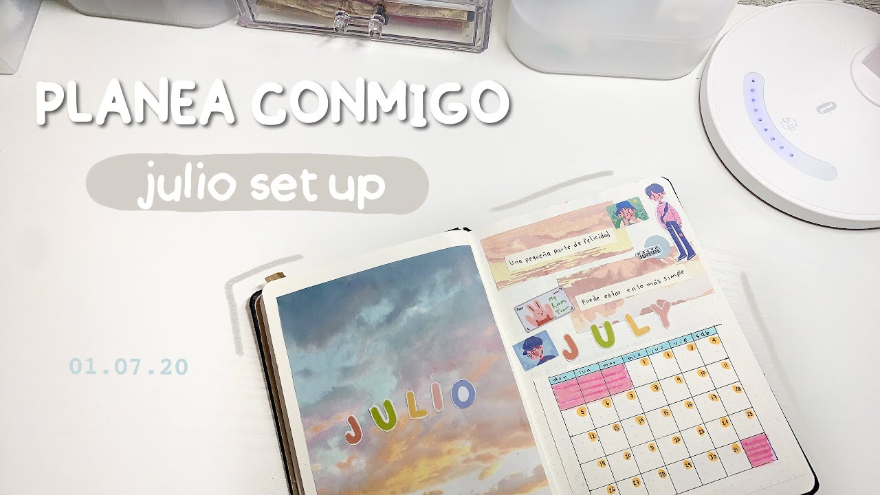 Julio set up bullet journal / intentando el estilo soft