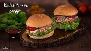 Kadai Paneer Burger | Paneer Recipes | Veg Burger