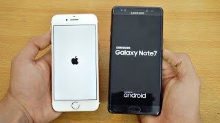 iPhone 7 vs Samsung Galaxy Note 7 - Speed Test! (4K)