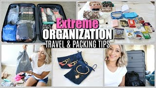 EXTREME ORGANIZING SUITCASE | TIPS FOR PACKING & TRAVELING | ANA LUISA JEWELRY