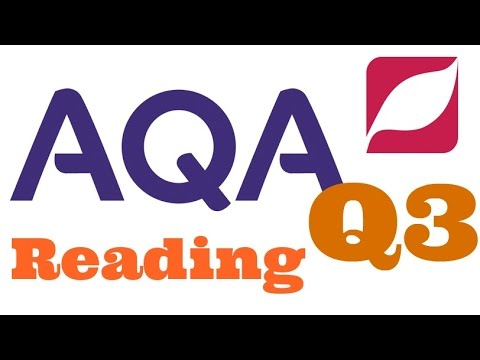 New AQA English Language 8700 Paper 1 Question 3 with Model Answer