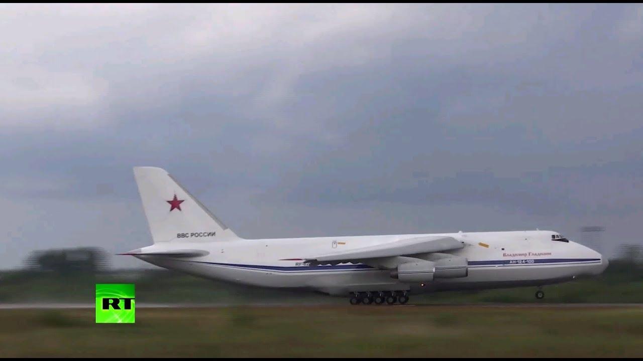 Самолёт Минобороны РФ доставил в Сирию более 40 тонн гумпомощи из Франции