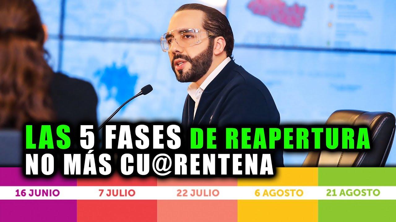 Las 5 FASES de reapertura en El Salvador | No más cu@rentena