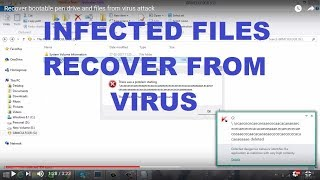 Recover bootable pen drive and files from virus attack
