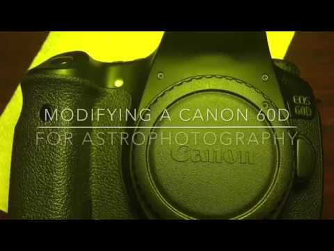 Modifying a Canon 60D for astrophotography