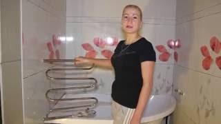 видео электрический полотенцесушитель