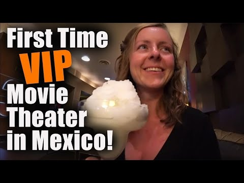 #89. Our First Time Going To A VIP MOVIE THEATER In Mexico!!