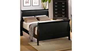 Cheap Sleigh Beds-coaster Queen Size Sleigh Bed:beautiful Set, Great Quality
