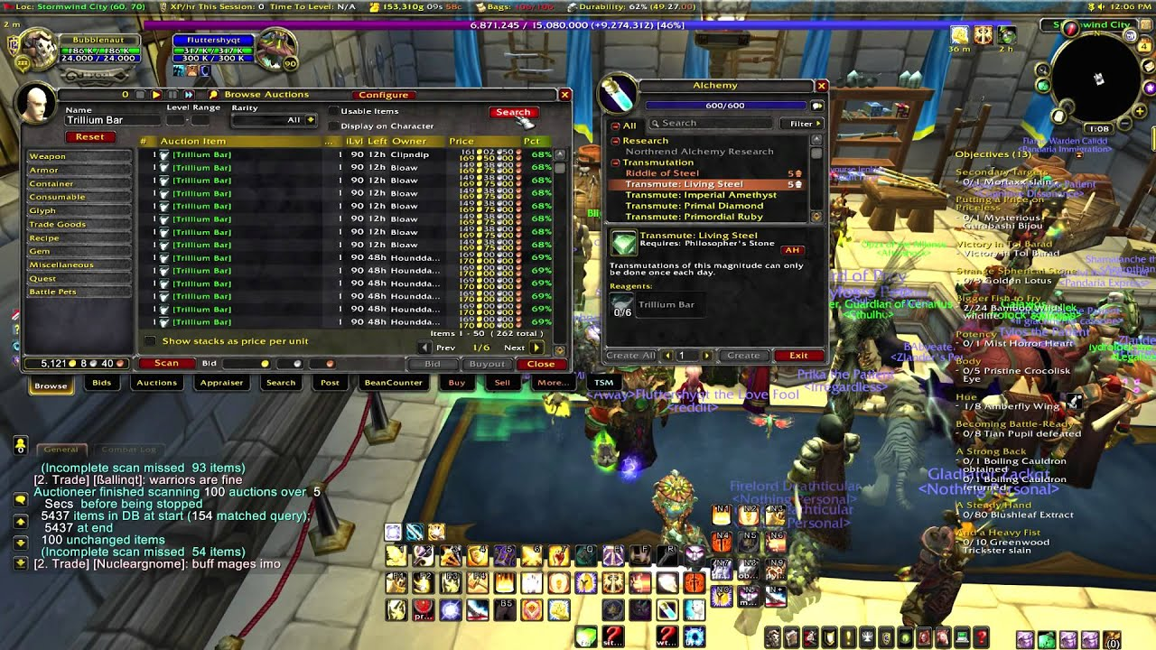 world of warcraft gold making guides mop alchemy living steel gold rh youtube com World of Warcraft Leveling Tips Best WoW Leveling Guide