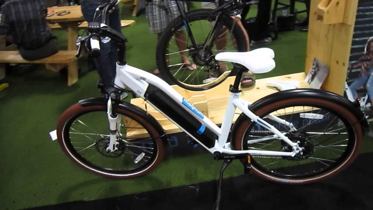 Magnum leisger e bikes at interbike 2015 youtube for Motorized bicycle shops near me