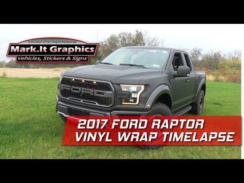 Timelapse: 2018 Ford Raptor Vinyl Wrap   Mark.It Graphics