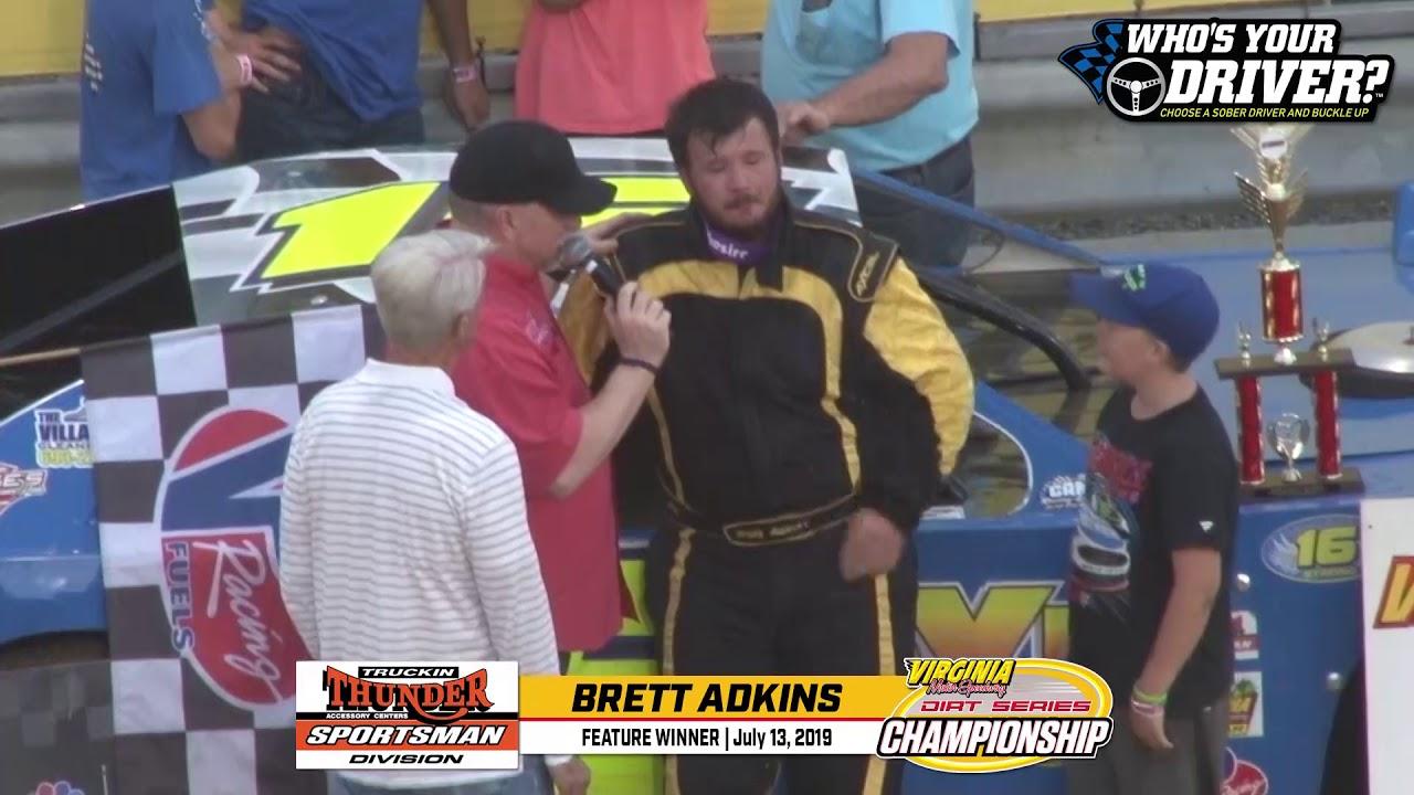 WHOSYOURDRIVER.ORG VICTORY LANE - Brett Adkins Truckin Thunder Sportsman 071319