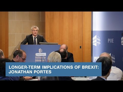 Longer-Term Implications of Brexit: Jonathan Portes