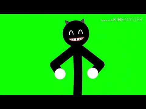 Cartoon Cat Jumpscare 2 (Stick nodes) {Green screen}