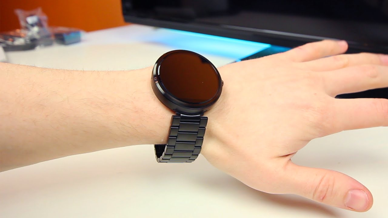 23mm Metal Band Moto 360 Unboxing First Look Youtube Motorola Smart Watch Black Leather