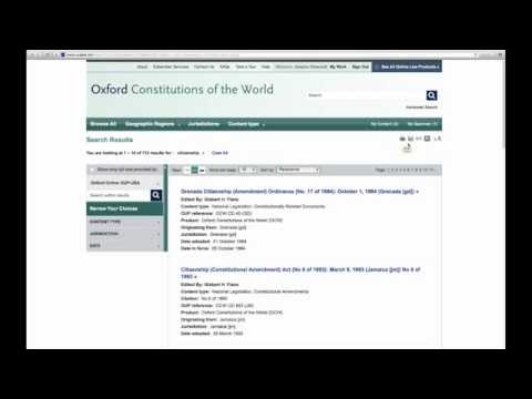 How to Use Oxford Constitutions of the World