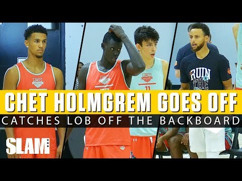 Chet Holmgren OFF THE BACKBOARD + Jalen Suggs WINDMILL! SC30 Camp Day 2 Highlights