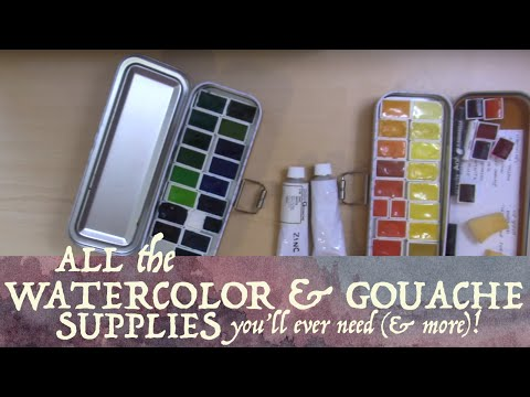 All The Watercolor & Gouache Supplies You'll Ever Need (& More)!