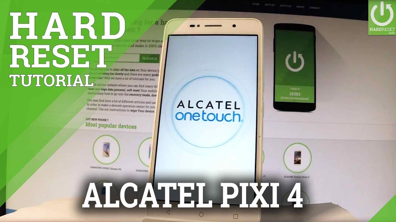 Hard Reset ALCATEL Pixi 4 (5) 5045D - HardReset info