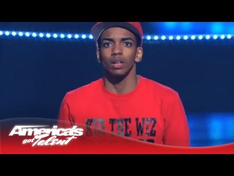 Kid The Wiz  Hat Trick Dancing to Chris Browns Fine China  Americas Got Talent 2013