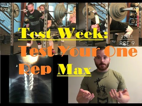 Test Your For Your One Rep Max
