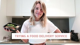 TRYING A FOOD DELIVERY SERVICE *HONEST REVIEW*