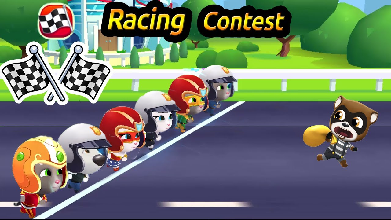 Talking Tom Gold Run New Racing Contest 2017 Youtube