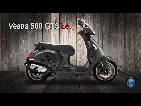 piaggio vespa gts 500 i e 2018 youtube. Black Bedroom Furniture Sets. Home Design Ideas