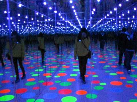 Infinity Dots Mirrored Room 1996 By Yayoi Kusama Youtube