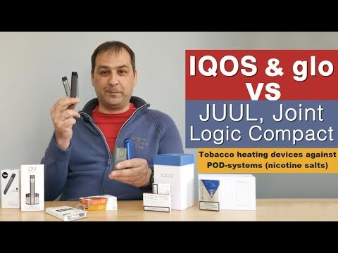IQOS and glo vs Logic Compact, JUUL, Joint: tobacco heating devices OR nicotine salt POD-systems?