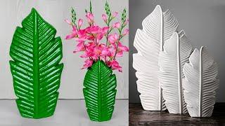 Stylist flower vase making for home decoration // Cement flower vase making