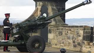 Scotland, Edinburgh Castle Cannon