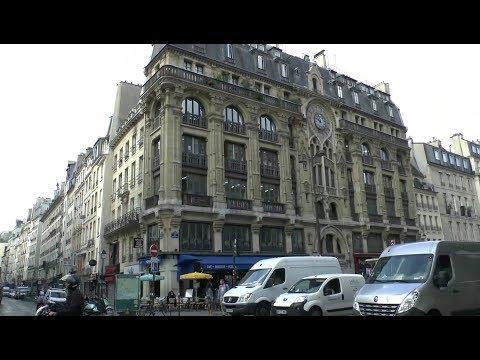 Walk around Paris France Rue Réaumur - Place de l'Opéra - Boulevard Haussmann